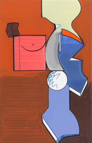 Figure with Object (Figur mit Gegenstand) Thomas Scheibitz, 2019, courtesy of Museum Berggruen